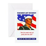 Enlist in the US Navy Greeting Cards (Pk of 20)