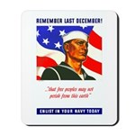 Enlist in the US Navy Mousepad