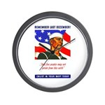 Enlist in the US Navy Wall Clock