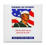 Enlist in the US Navy Tile Coaster