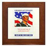 Enlist in the US Navy Framed Tile