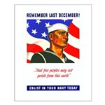 Enlist in the US Navy Small Poster