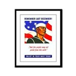 Enlist in the US Navy Framed Panel Print