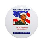 Enlist in the US Navy Ornament (Round)