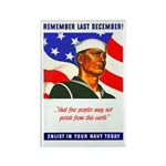 Enlist in the US Navy Rectangle Magnet (10 pack)
