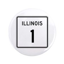 "Route 1, Illinois 3.5"" Button (100 pack)"
