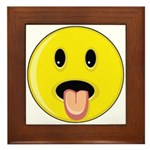 Smiley Face - Tongue Out Framed Tile