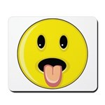 Smiley Face - Tongue Out Mousepad