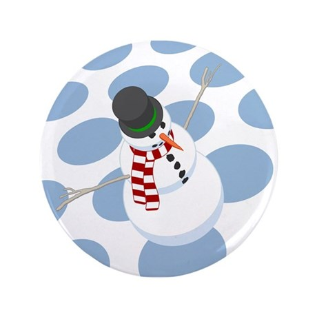 "Bliz the Snowman Dotted 3.5"" Button (100 pack)"