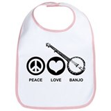 Peace Love Banjo Bib