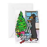 Black Tan Dachshund Funny Christmas Cards (20)