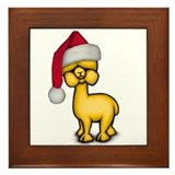 Christmas Alpaca Framed Tile