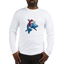Christmas Dolphin Long Sleeve T-Shirt
