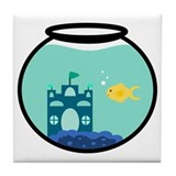 Cute Goldfish Tile Coaster