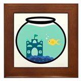Cute Goldfish Framed Tile