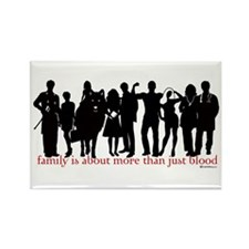 Cullen Family Silhouette Rectangle Magnet