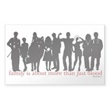 Cullen Family Silhouette Rectangle Stickers