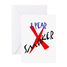 1 Year X Smoker Greeting Card