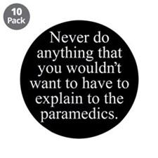 "Paramedics 3.5"" Button (10 pack)"