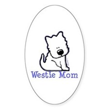 Westie Mom Oval Decal