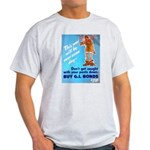Comic Pants Down Humor (Front) Light T-Shirt