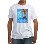 Comic Pants Down Humor Fitted T-Shirt