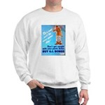 Comic Pants Down Humor (Front) Sweatshirt