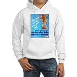 Comic Pants Down Humor (Front) Hooded Sweatshirt