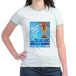 Comic Pants Down Humor Jr. Ringer T-Shirt