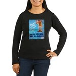 Comic Pants Down Humor (Front) Women's Long Sleeve