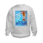 Comic Pants Down Humor (Front) Kids Sweatshirt