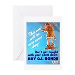 Comic Pants Down Humor Greeting Card