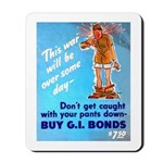 Comic Pants Down Humor Mousepad