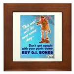 Comic Pants Down Humor Framed Tile