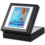 Comic Pants Down Humor Keepsake Box