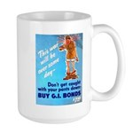 Comic Pants Down Humor Large Mug
