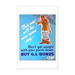 Comic Pants Down Humor Mini Poster Print