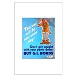 Comic Pants Down Humor Large Poster