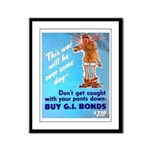 Comic Pants Down Humor Framed Panel Print
