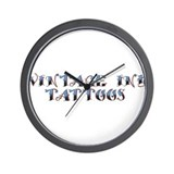 Classic Vintage Ink Name Plat Wall Clock