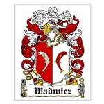 Wadwicz Family Crest Small Poster
