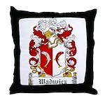 Wadwicz Family Crest Throw Pillow