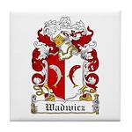 Wadwicz Family Crest Tile Coaster
