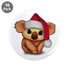 "Christmas Koala 3.5"" Button (10 pack)"