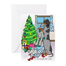 Dapple Dachshund Sweater Christmas Cards (20)
