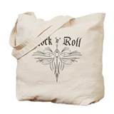 Rock n Roll Stripe Tote Bag
