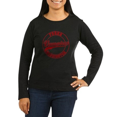 Vampires Forks, WA Women's Long Sleeve Dark T-Shir