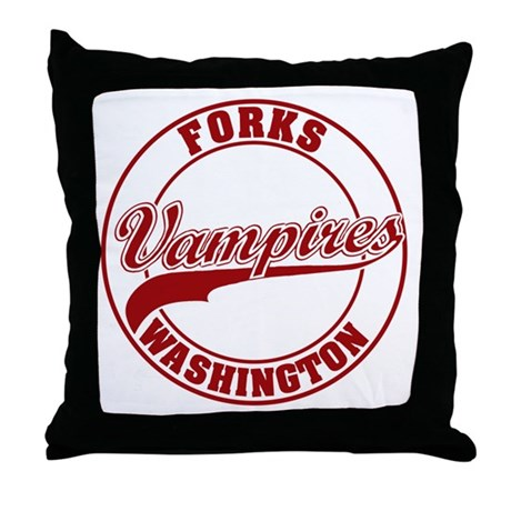 Vampires Forks, WA Throw Pillow