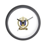 TURGEON Family Crest Wall Clock