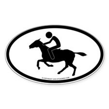 """Equestrian"" - Oval Decal"